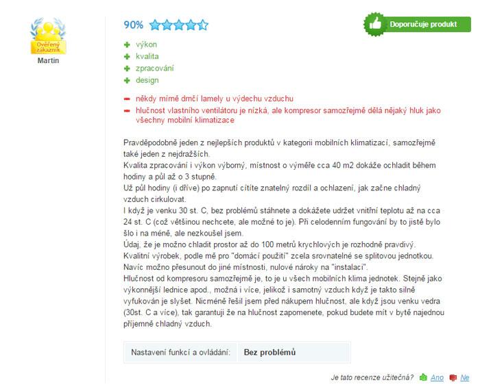 recenze klimatizace remko rkl 360
